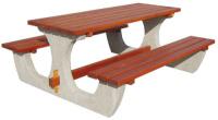 Piknikový stůl - beton-dřevo MM800041