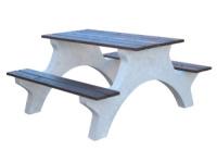 Piknikový stůl - beton-dřevo MM801051
