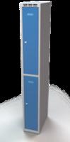 Šatní skříňka Aldop dělená - dvouplášťové dveře, šířka / počet oddělení: 250 mm / 1