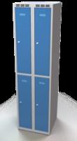 Šatní skříňka Aldop dělená - dvouplášťové dveře, šířka / počet oddělení: 250 mm / 2