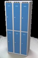 Šatní skříňka Aldop dělená - dvouplášťové dveře, šířka / počet oddělení: 250 mm / 3