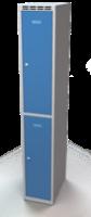 Šatní skříňka Aldop dělená - dvouplášťové dveře, šířka / počet oddělení: 300 mm / 1
