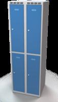 Šatní skříňka Aldop dělená - dvouplášťové dveře, šířka / počet oddělení: 300 mm / 2