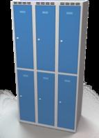 Šatní skříňka Aldop dělená - dvouplášťové dveře, šířka / počet oddělení: 300 mm / 3