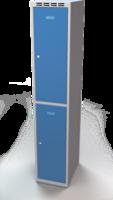 Šatní skříňka Aldop dělená - dvouplášťové dveře, šířka / počet oddělení: 350 mm / 1
