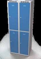 Šatní skříňka Aldop dělená - dvouplášťové dveře, šířka / počet oddělení: 350 mm / 2