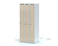 Šatní skříňka Aldera - lamino dveře, šířka / počet oddělení: 250 mm / 3