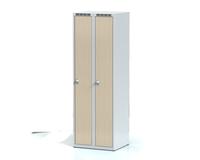 Šatní skříňka Aldera - lamino dveře, šířka / počet oddělení: 300 mm / 2
