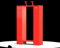 Šatní skříň pro hasiče - sestava K3H 1 60 1
