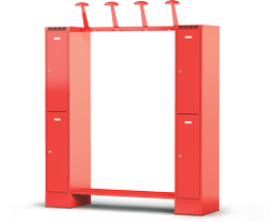 Šatní skříň pro hasiče - sestava KH 2 120 2