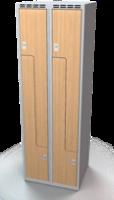 Šatní skříňky - dveře tvaru Z, lamino AM 30 2 Z S DD