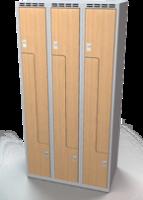 Šatní skříňky - dveře tvaru Z, lamino AM 30 3 Z S DD
