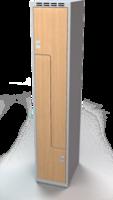 Šatní skříňky - dveře tvaru Z, lamino AM 35 1 Z S DD