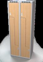 Šatní skříňky - dveře tvaru Z, lamino AM 35 2 Z S DD