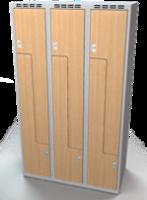 Šatní skříňky - dveře tvaru Z, lamino AM 35 3 Z S DD
