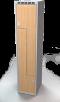 Šatní skříňky - dveře tvaru Z, lamino AM 40 1 Z S DD
