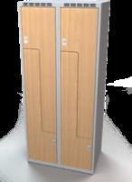 Šatní skříňky - dveře tvaru Z, lamino AM 40 2 Z S DD