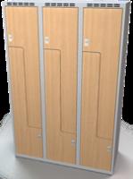 Šatní skříňky - dveře tvaru Z, lamino AM 40 3 Z S DD