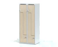 Šatní skříňky - dveře tvaru Z, lamino D3M 40 2 Z S