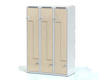 Šatní skříňky - dveře tvaru Z, lamino D3M 40 3 Z S