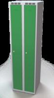 Šatní skříňka Aldop - dvouplášťové dveře, šířka / počet oddělení: 250 mm / 2