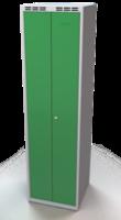 Šatní skříňka - dvouplášťové dveře, šířka oddělení 250 mm, společné uzavírání