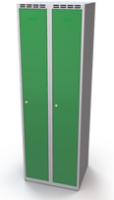 Šatní skříňka Aldop - dvouplášťové dveře, šířka / počet oddělení: 300 mm/ 2