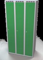 Šatní skříňka Aldop - dvouplášťové dveře, šířka / počet oddělení: 300 mm / 3