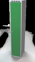 Šatní skříňka Aldop - dvouplášťové dveře, šířka / počet oddělení: 350 mm / 1