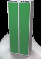 Šatní skříňka Aldop - dvouplášťové dveře, šířka / počet oddělení: 350 mm / 2