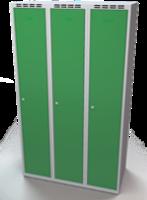 Šatní skříňka Aldop - dvouplášťové dveře, šířka / počet oddělení: 350 mm / 3