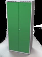 Šatní skříňka - dvouplášťové dveře, šířka oddělení 400 mm, společné uzavírání
