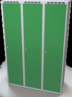 Šatní skříňka Aldop - dvouplášťové dveře, šířka / počet oddělení: 400 mm / 3