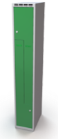 Šatní skříňky - dvouplášťové dveře tvaru Z, kovové A1M 30 1 Z S