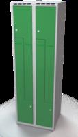 Šatní skříňky - dvouplášťové dveře tvaru Z, kovové A1M 30 2 Z S