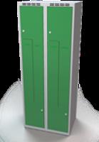 Šatní skříňky - dvouplášťové dveře tvaru Z, kovové A1M 35 2 Z S