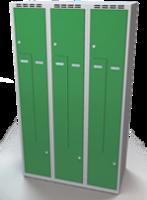 Šatní skříňky - dvouplášťové dveře tvaru Z, kovové A1M 35 3 Z S