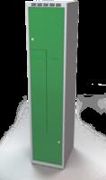 Šatní skříňky - dvouplášťové dveře tvaru Z, kovové A1M 40 1 Z S
