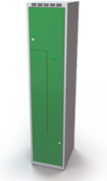 Šatní skříňky - dvouplášťové dveře tvaru Z, kovové A3M 40 1 Z S