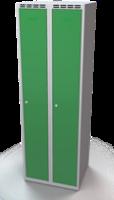 Šatní skříňka na soklu - celosvařovaná, jednoplášťové dveře