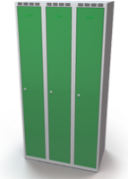 Šatní skříňka - jednoplášťové dveře, šířka / počet oddělení: 300 mm / 3