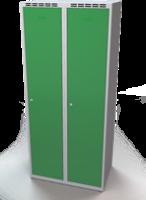 Šatní skříňka - jednoplášťové dveře, šířka / počet oddělení: 400 mm / 2
