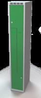 Šatní skříňky - jednoplášťové dveře tvaru Z, kovové L1M 30 1 Z S