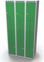 Šatní skříňky - jednoplášťové dveře tvaru Z, kovové L1M 30 3 Z S
