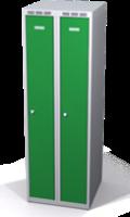 Šatní skříňka Aldop snížená - dvouplášťové dveře, šířka / počet oddělení: 250 mm / 2