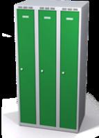 Šatní skříňka Aldop snížená - dvouplášťové dveře, šířka / počet oddělení: 250 mm / 3