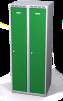Šatní skříňka Aldop snížená - dvouplášťové dveře, šířka / počet oddělení: 300 mm / 2