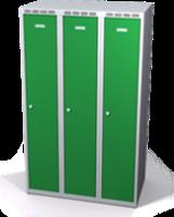 Šatní skříňka Aldop snížená - dvouplášťové dveře, šířka / počet oddělení: 300 mm / 3