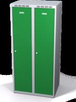 Šatní skříňka Aldop snížená - dvouplášťové dveře, šířka / počet oddělení: 400 mm / 2
