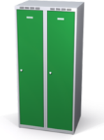 Šatní skříňka Alsin snížená - jednoplášťové dveře, šířka / počet oddělení: 400 mm / 2